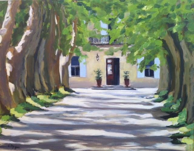 """""""Le Chateau"""" original fine art by Karen D'angeac Mihm"""