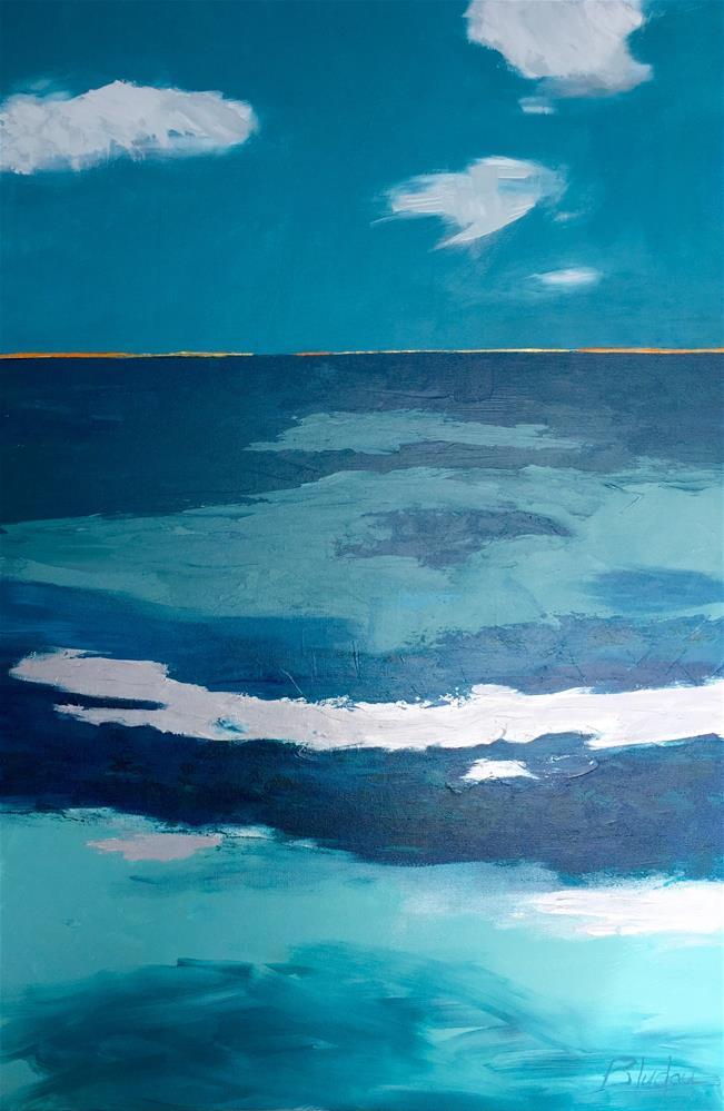 """Tie Dye"" original fine art by Janet Bludau"