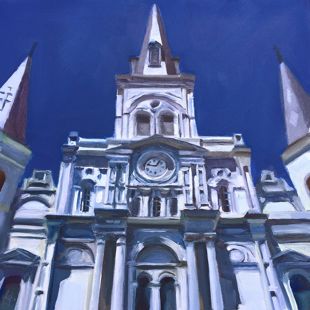 """St. Louis Cathedral"" original fine art by Elizabeth Dawn Johnston"