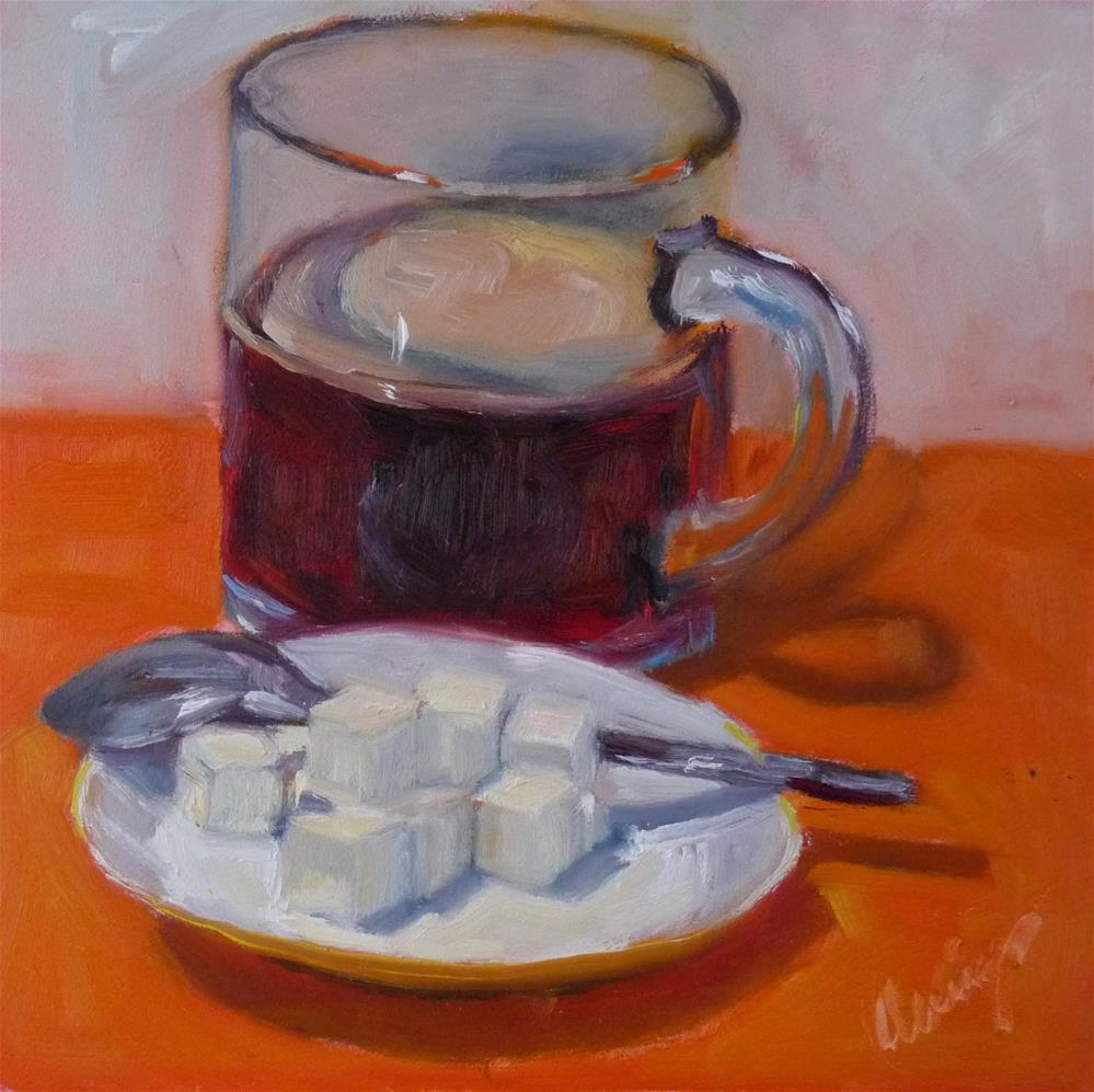"""One Lump or Two?"" original fine art by Sharman Owings"