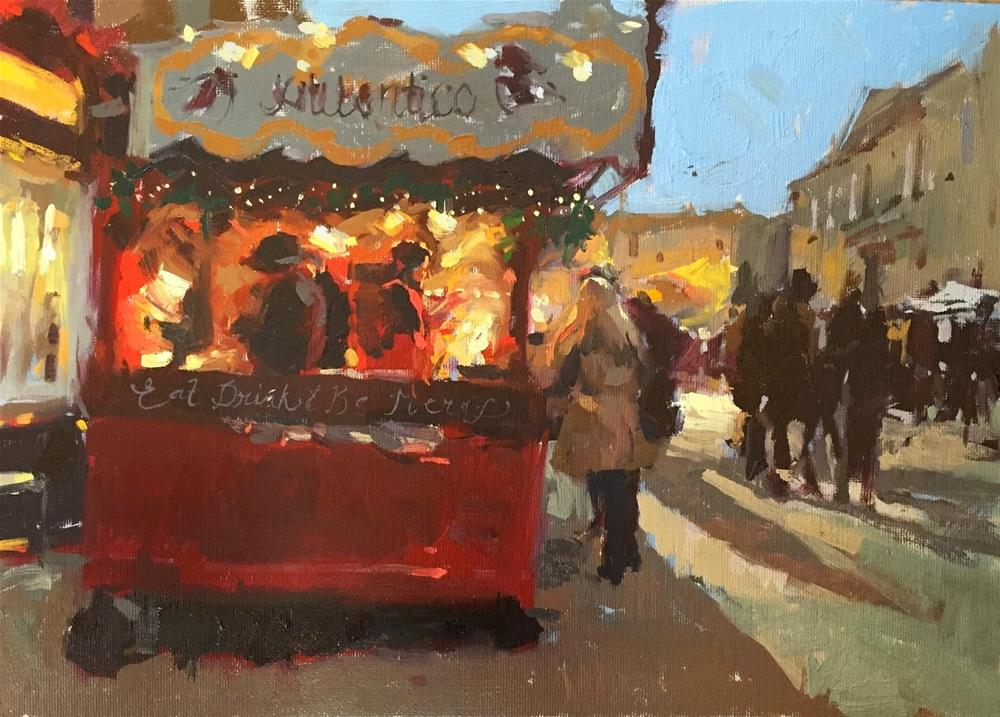 """Christmas market"" original fine art by Haidee-Jo Summers"