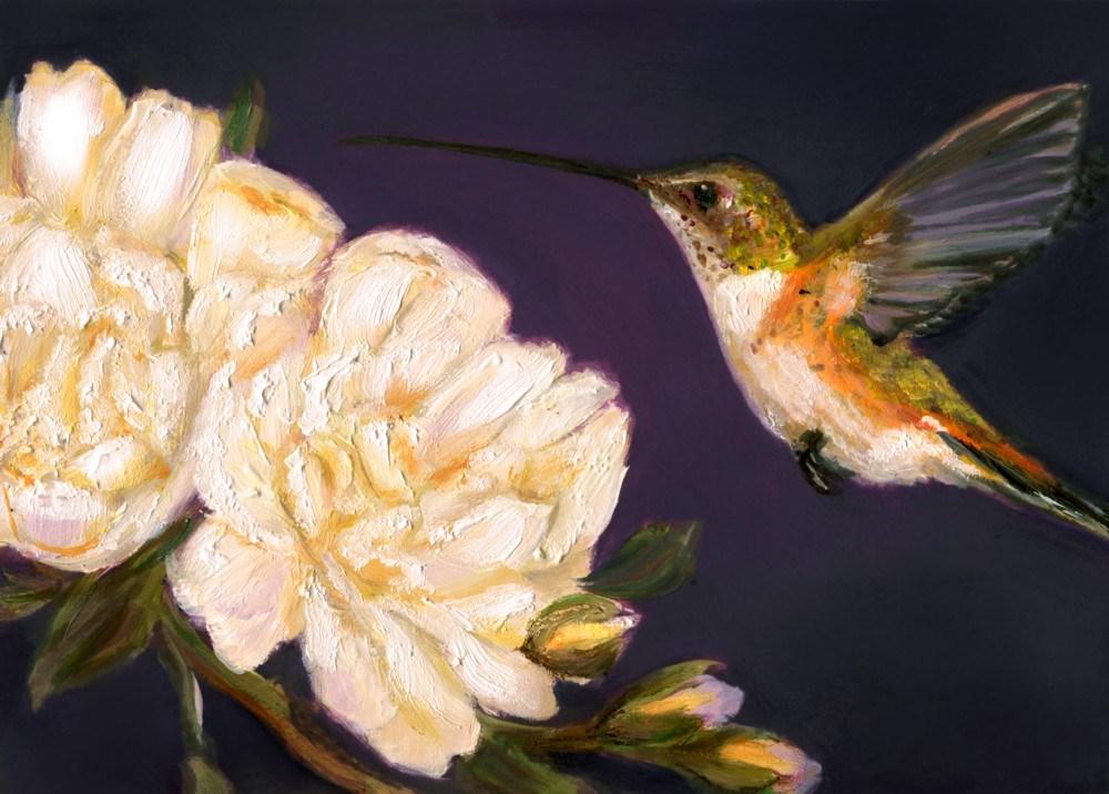 """""""Hummingbird XI"""" original fine art by Sunny Avocado"""