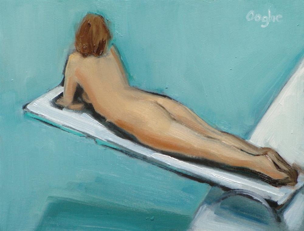 """""""Nude on Diving Board 3"""" original fine art by Angela Ooghe"""