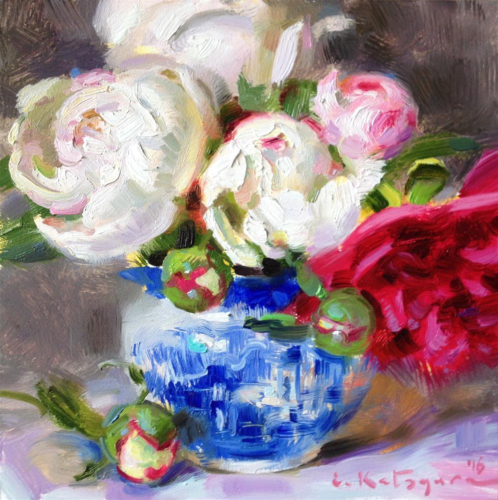 """Summer Bouquet"" original fine art by Elena Katsyura"
