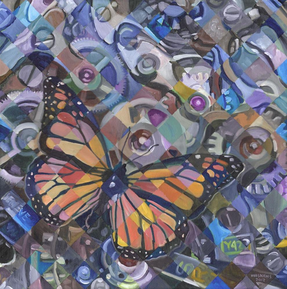 """""""Clockwork Butterfly No. 12"""" original fine art by Randal Huiskens"""