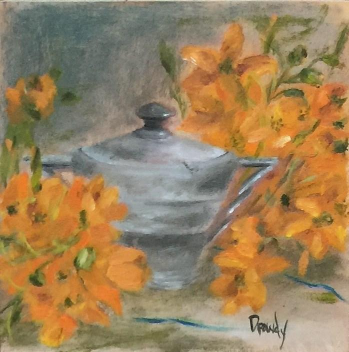 """""""Czechoslovakian Sugar Bowl"""" original fine art by Stephanie Drawdy"""