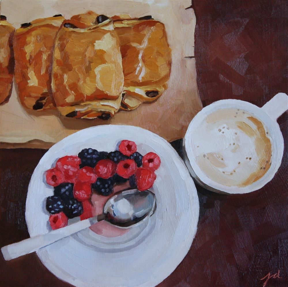 """Pain au Chocolat"" original fine art by Jessie Dodington"
