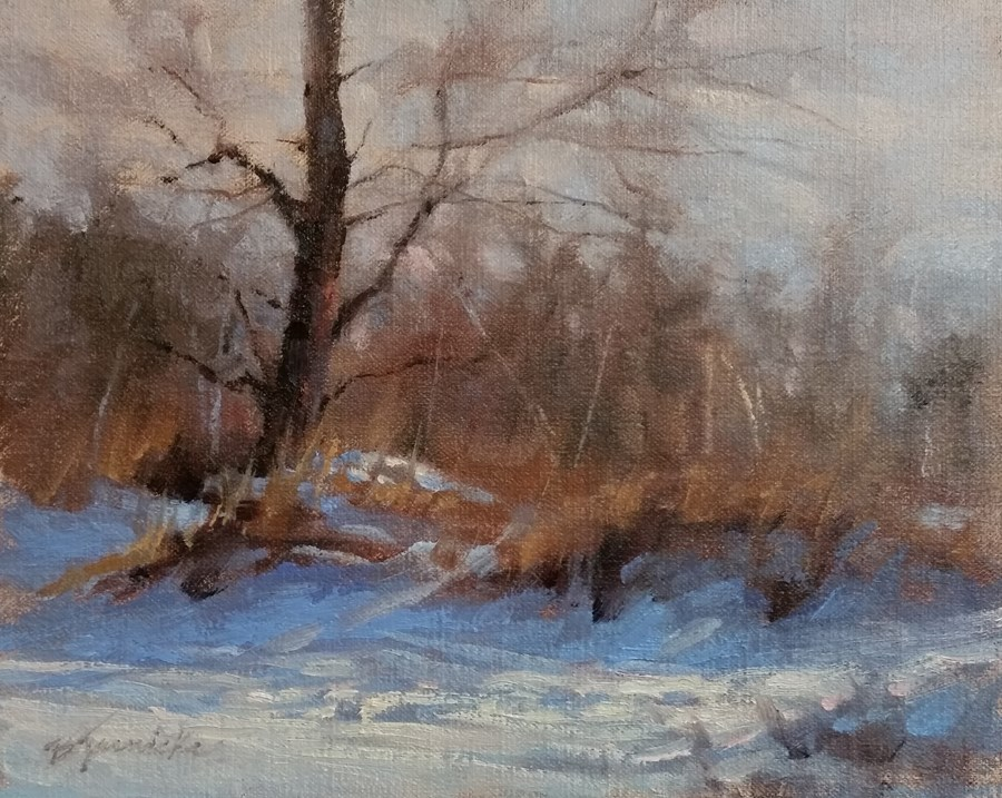 """Winter Rhythyms"" original fine art by Barbara Jaenicke"