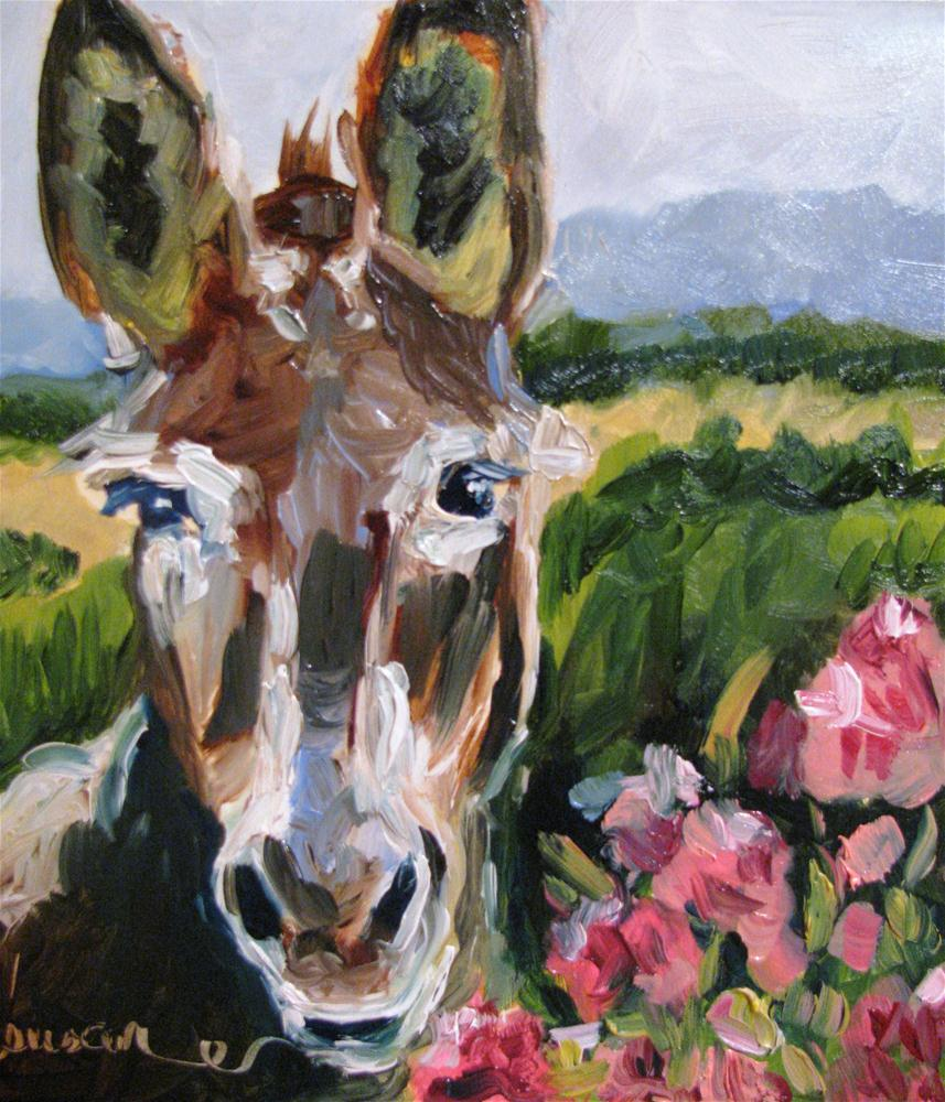 """Huckaby Longears"" original fine art by Susan Elizabeth Jones"
