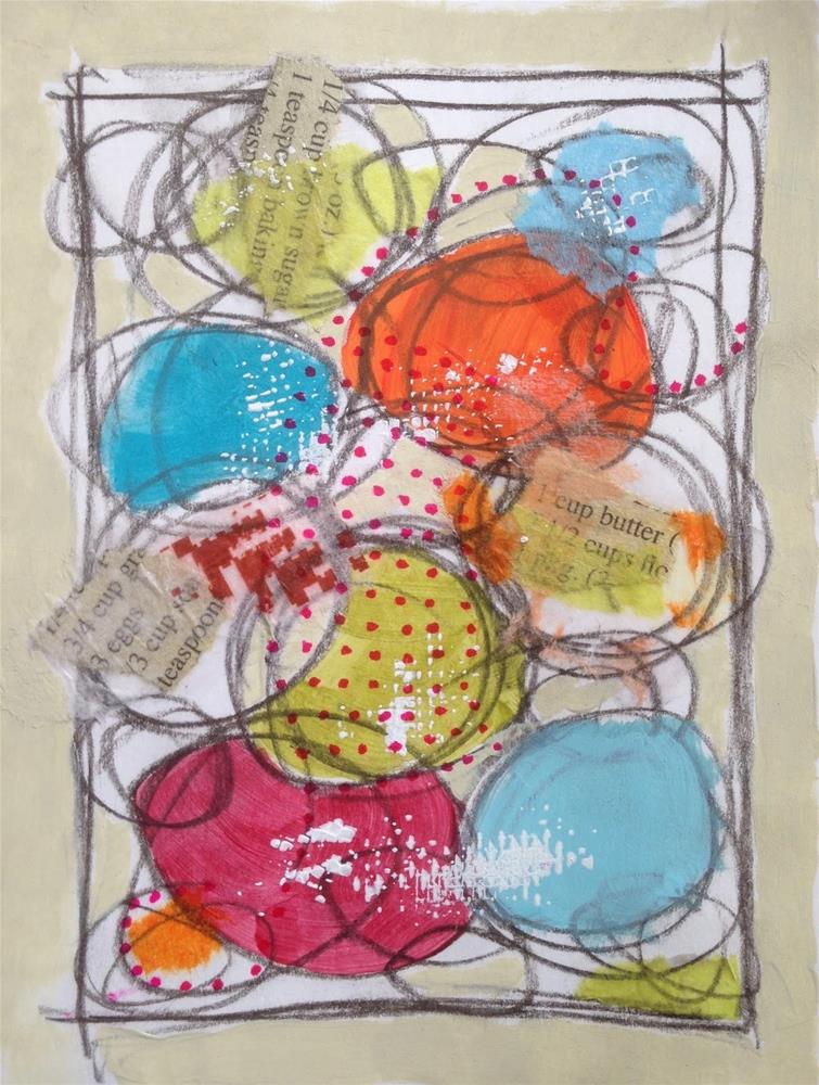 """Baby Sister's Birthday"" original fine art by Dotty  Seiter"