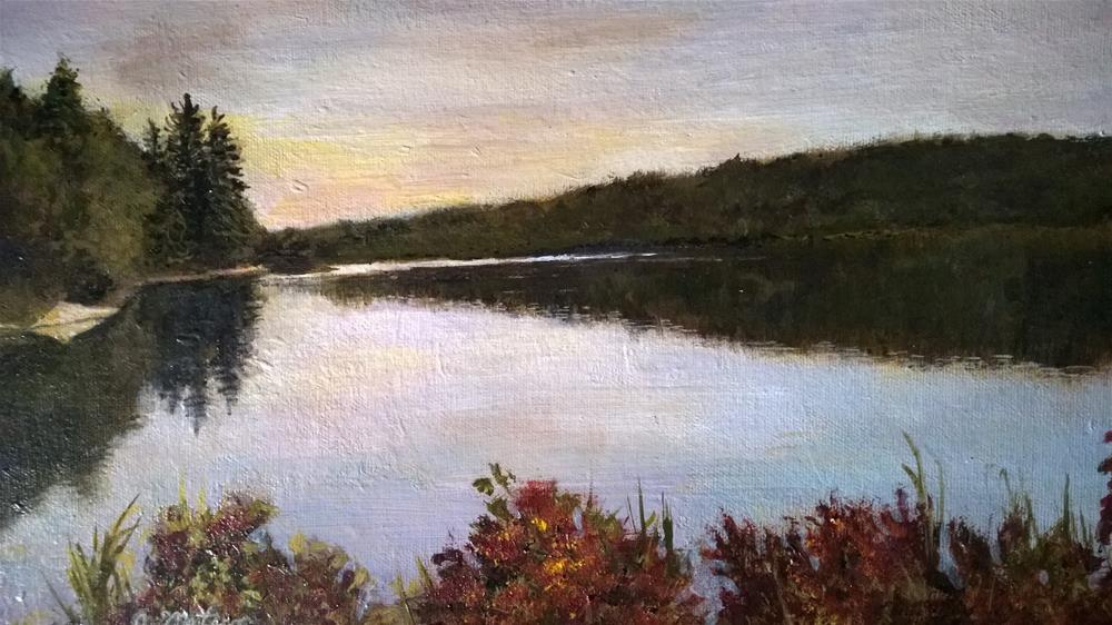 """River View"" original fine art by Joan Matero"
