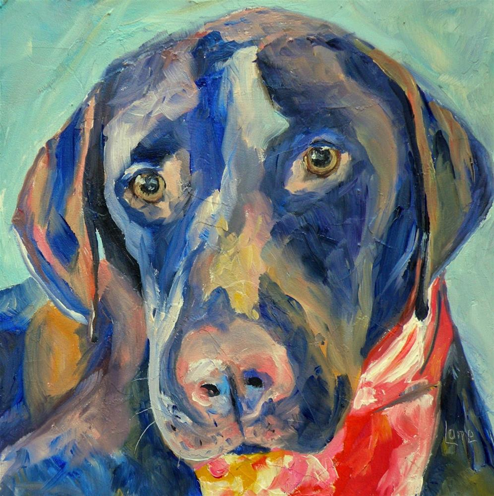 """BEAMER GRIMES 5/100 FOR 100 PET PORTRAITS IN 100 DAYS © SAUNDRA LANE GALLOWAY"" original fine art by Saundra Lane Galloway"