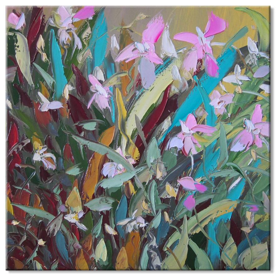 """Pink orchids"" original fine art by Elena Lunetskaya"