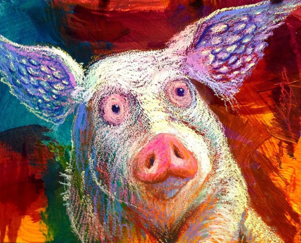 """Angel Pig !"" original fine art by Jeff Leedy"