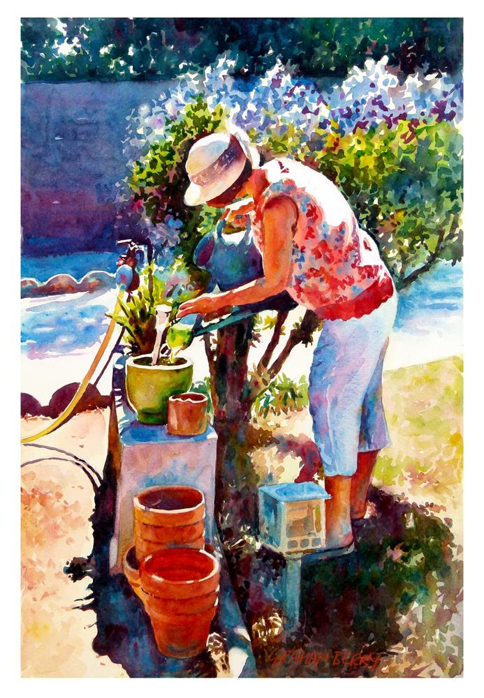 """In Jocelyne's garden."" original fine art by Graham Berry"