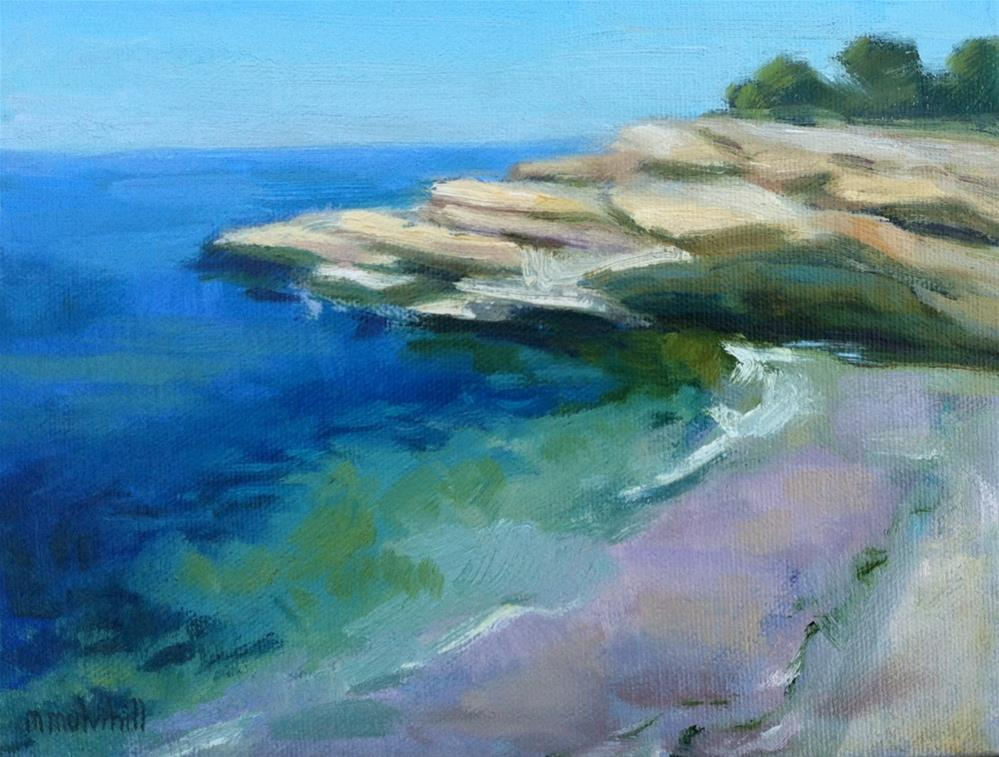 """La Jolla Pink and Purple Sand"" original fine art by Mary Mulvihill"