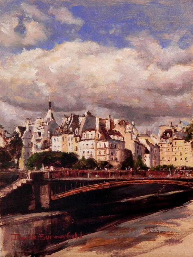 """Cloudy Day in Paris"" original fine art by Jonelle Summerfield"
