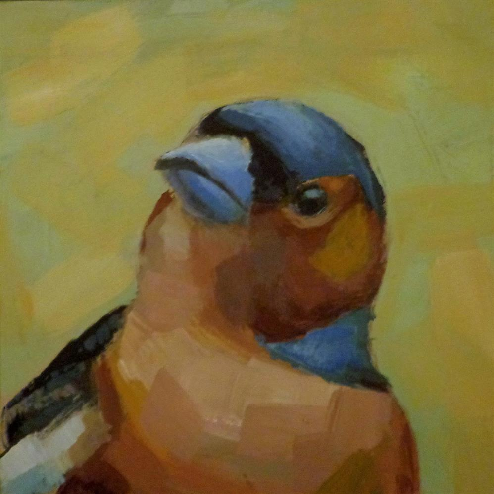 """Chaffinch"" original fine art by Maria Z."