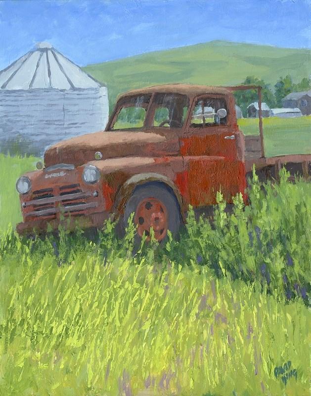 """""""Derelict Dodge"""" original fine art by David King"""