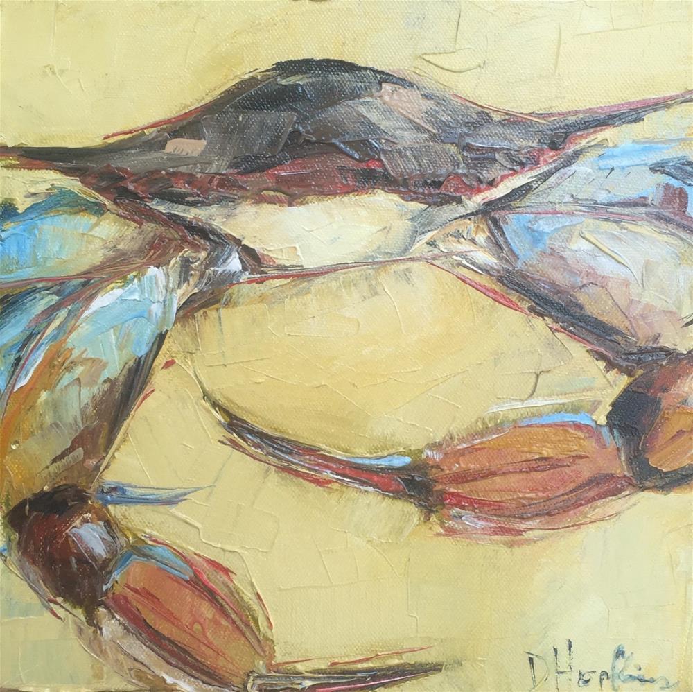 """Sideways"" original fine art by Denise Hopkins"