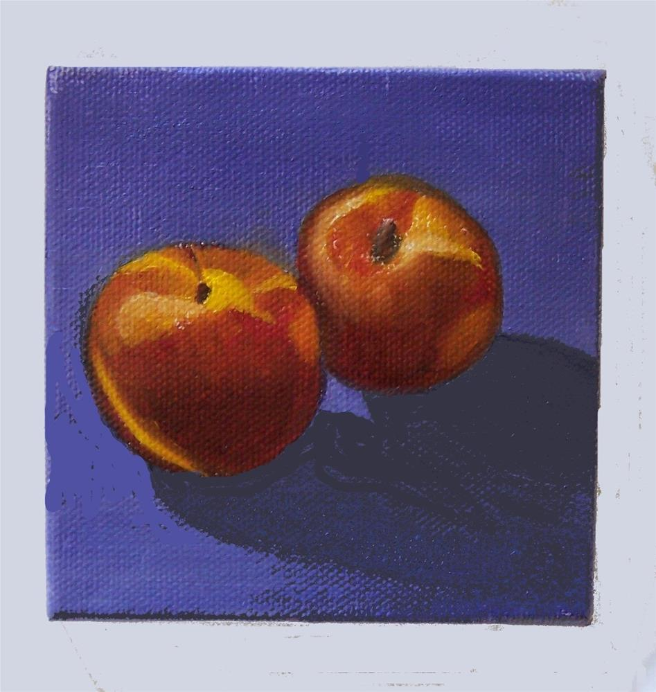 """Pair of peaches"" original fine art by John Marcum"