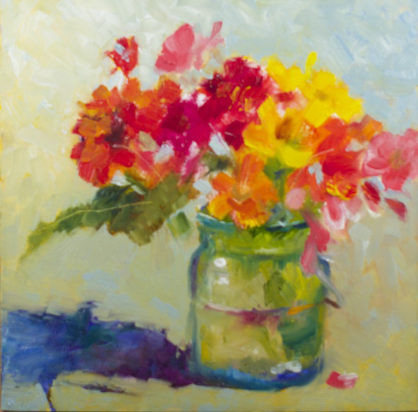 """Flower Break"" original fine art by Sue Churchgrant"