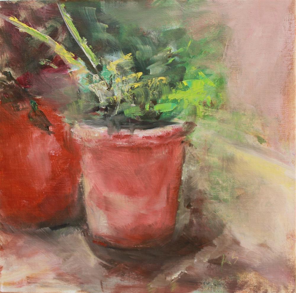 """""""Terra Cotta"""" original fine art by Karen Solorzano"""