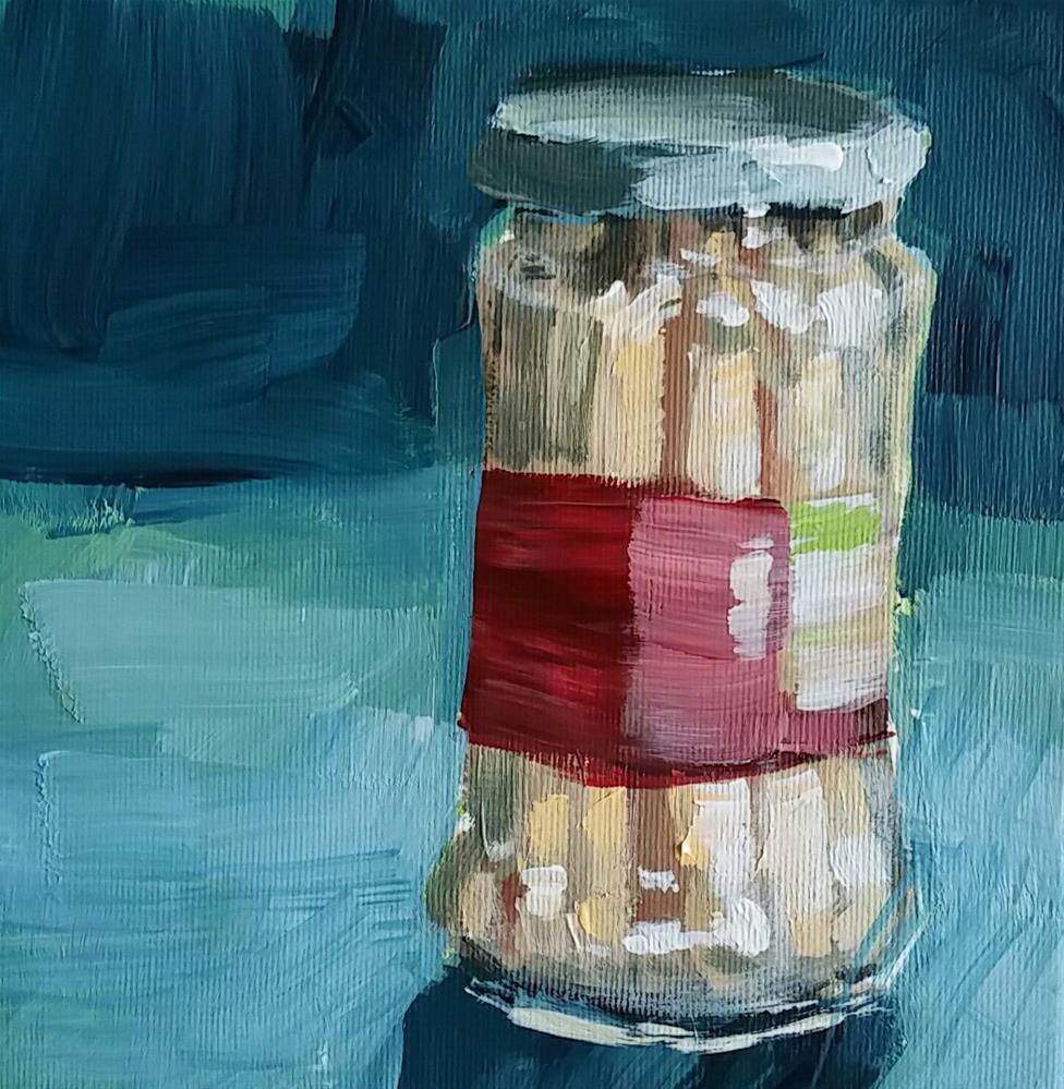 """Spargel im Glas"" original fine art by Sabine Hüning"