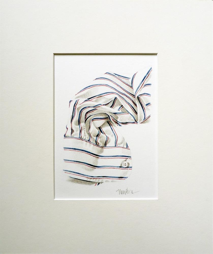 """""""Shirt Sleeve - how to illustrate fabric in colored pencil"""" original fine art by Barbara Benedetti Newton"""