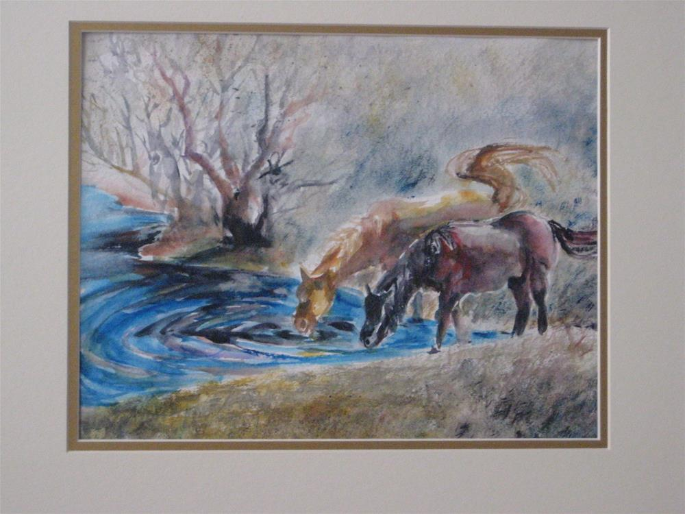 """Horses"" original fine art by Wenqing Xu"