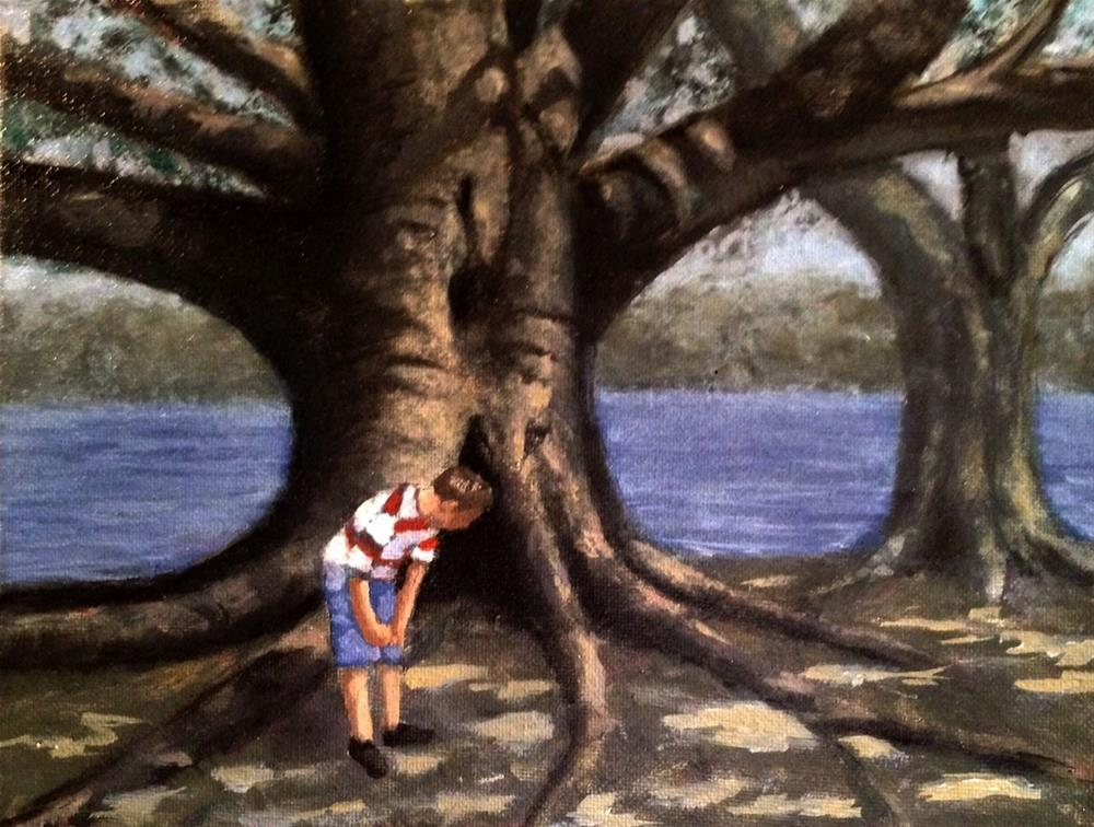 """Tree Time"" original fine art by David Larson Evans"