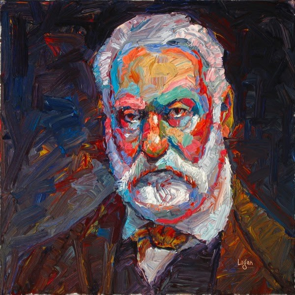 """Victor Hugo"" original fine art by Raymond Logan"
