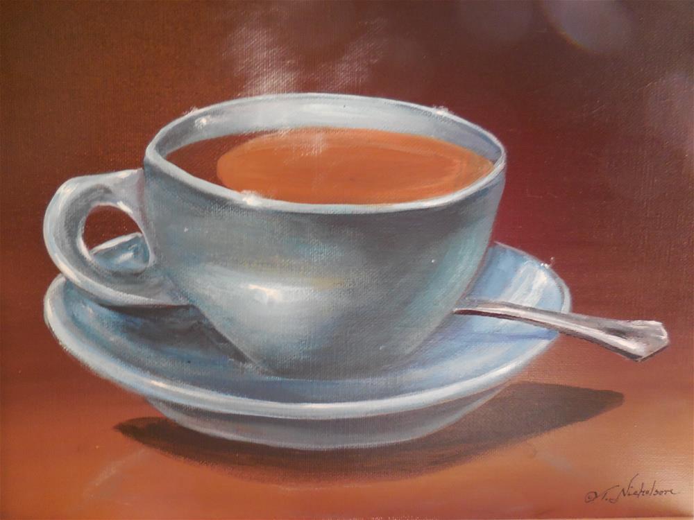 """Cup of Joe"" original fine art by Terri Nicholson"