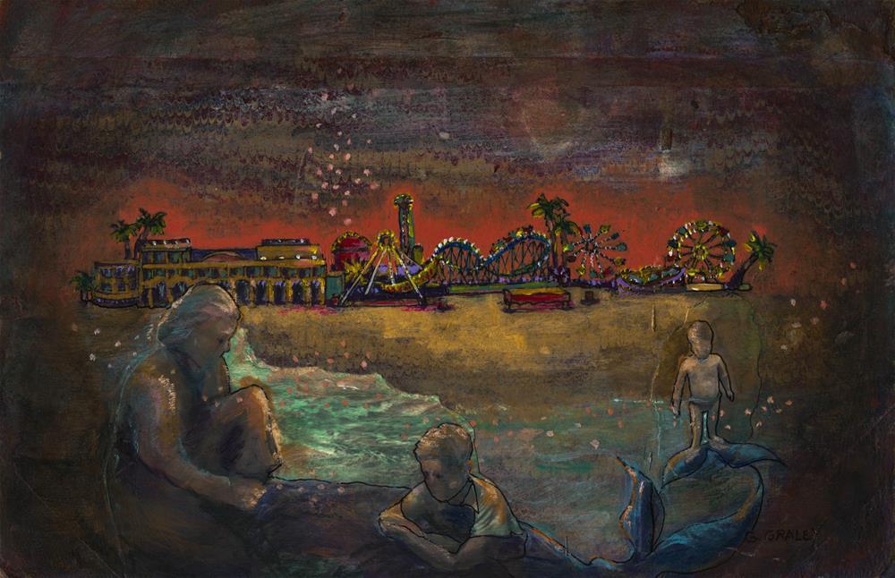 """Boardwalk"" original fine art by Geri Graley"