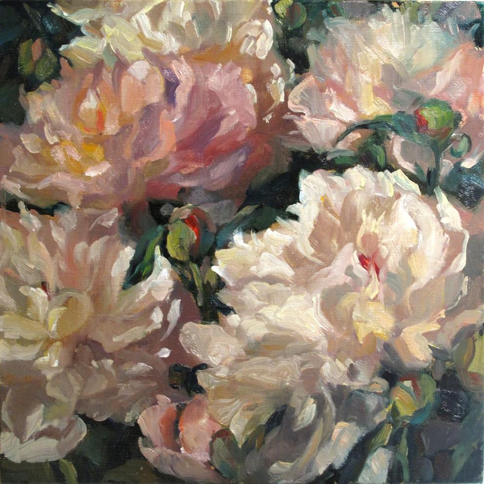 """""""Peonies - Carnavale"""" original fine art by Myriam Kin-Yee"""