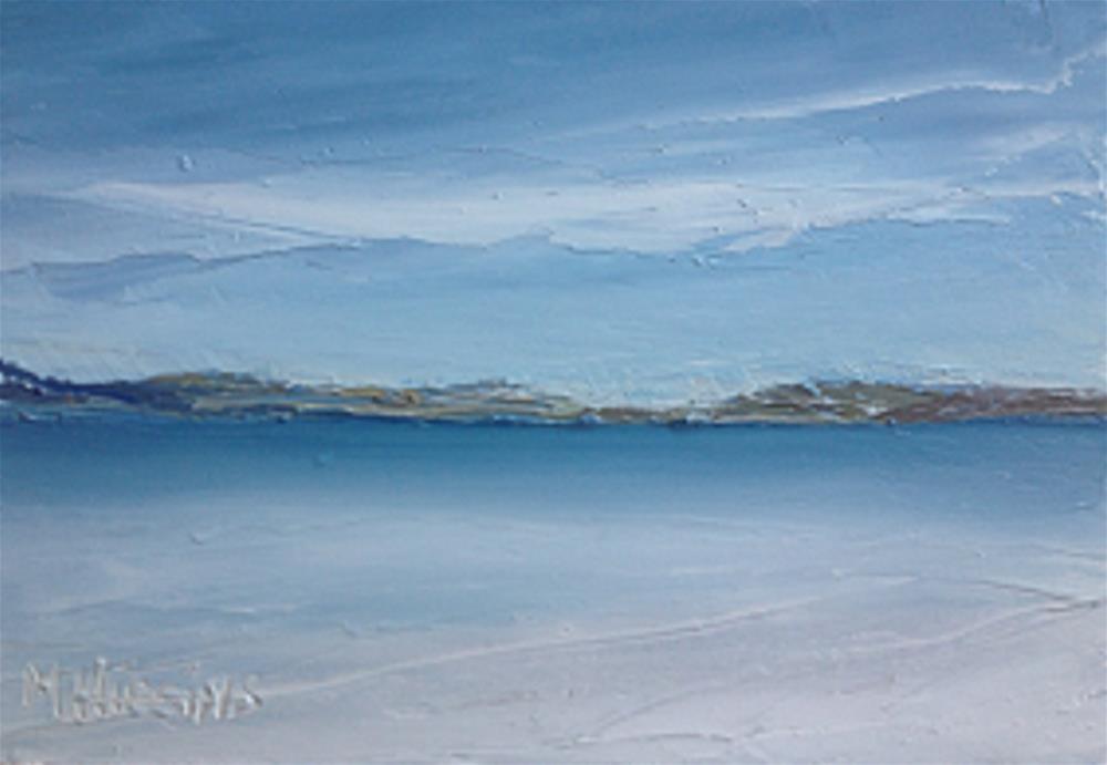 """""""Secluded Beach, Donegal"""" original fine art by Marie O' Higgins"""