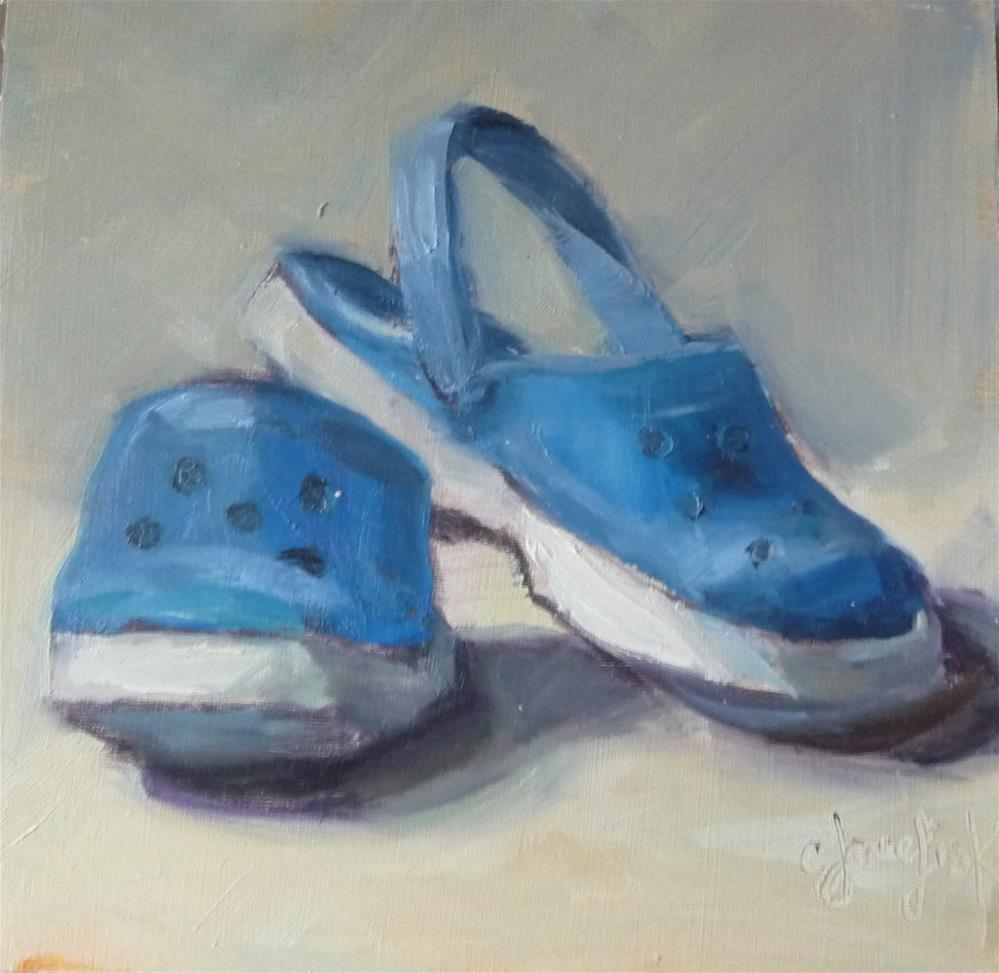 """Blue Crocks"" original fine art by Carol Josefiak"