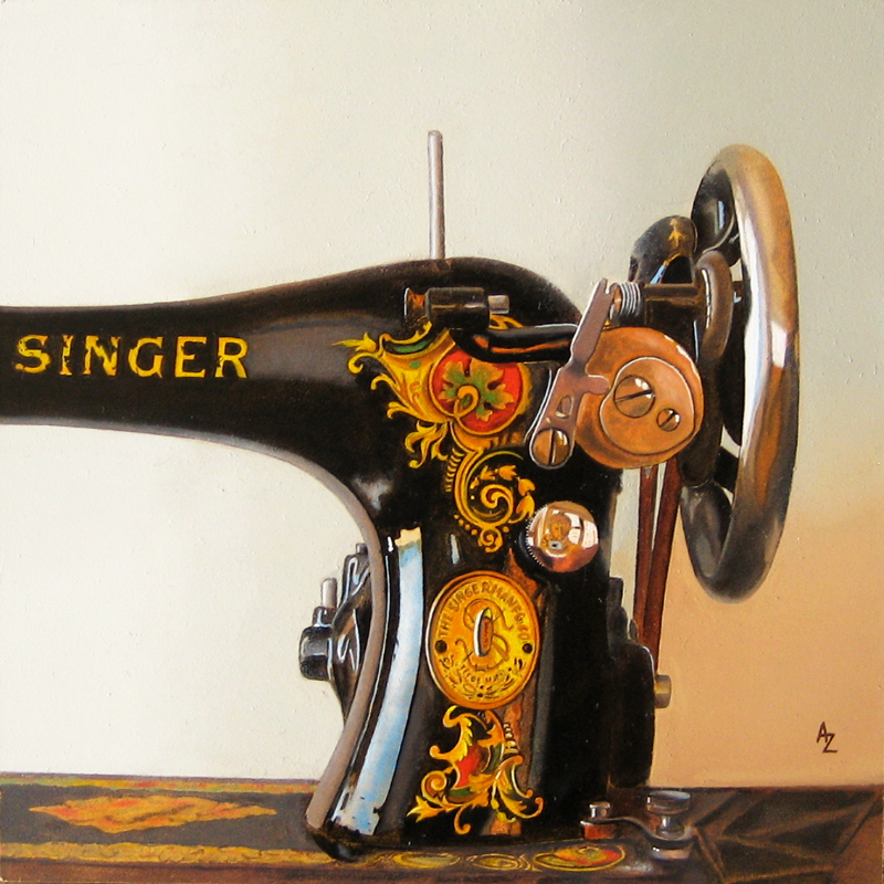 """Singer"" original fine art by Alex Zonis"