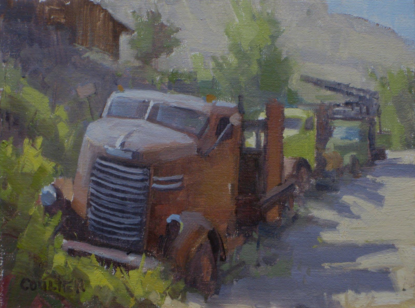 """SNUB NOSE DODGE"" original fine art by James Coulter"