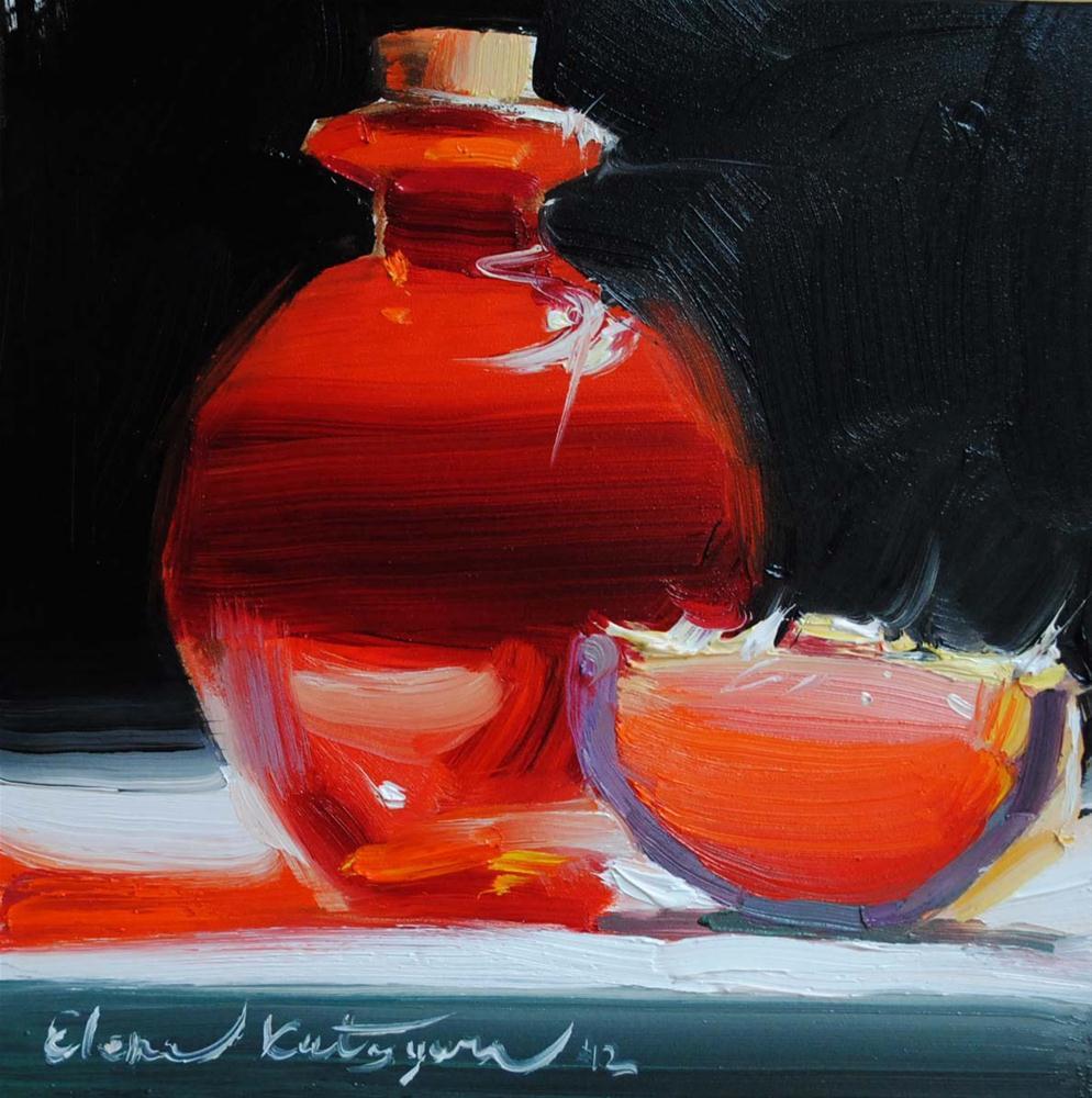 """The Red Duet"" original fine art by Elena Katsyura"