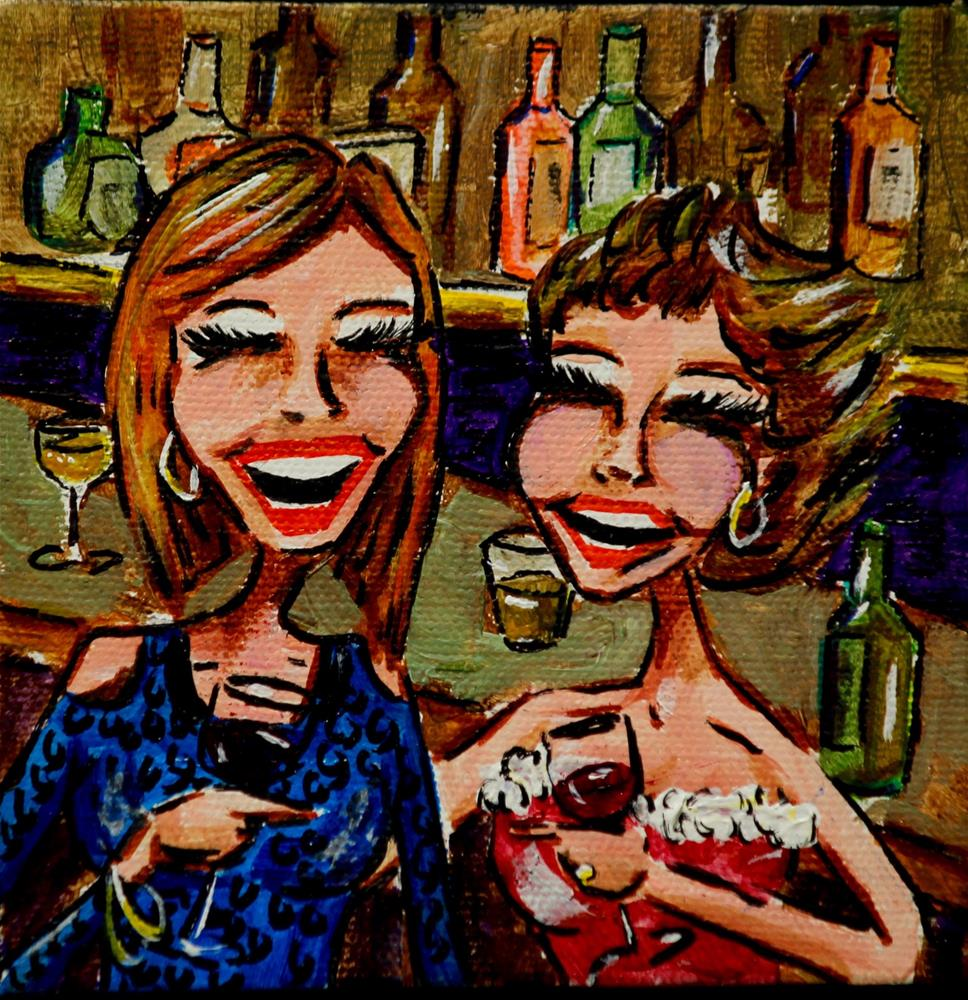 """Boobs & Booze 56"" original fine art by Jennifer Koach"