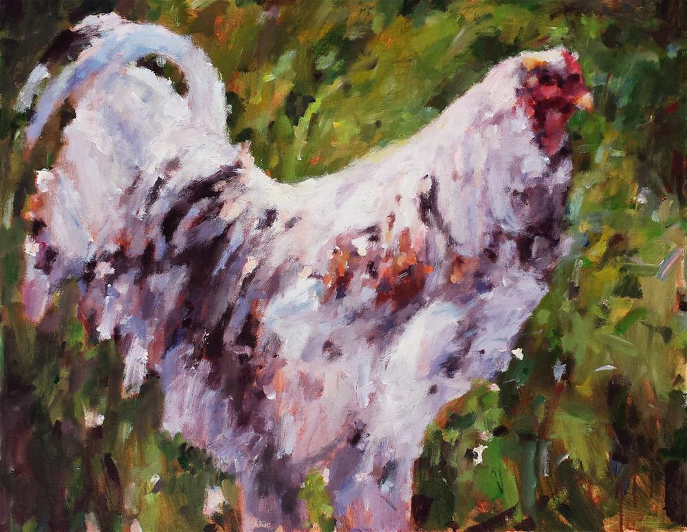 """Chicken Goddess"" original fine art by Nava Judith"