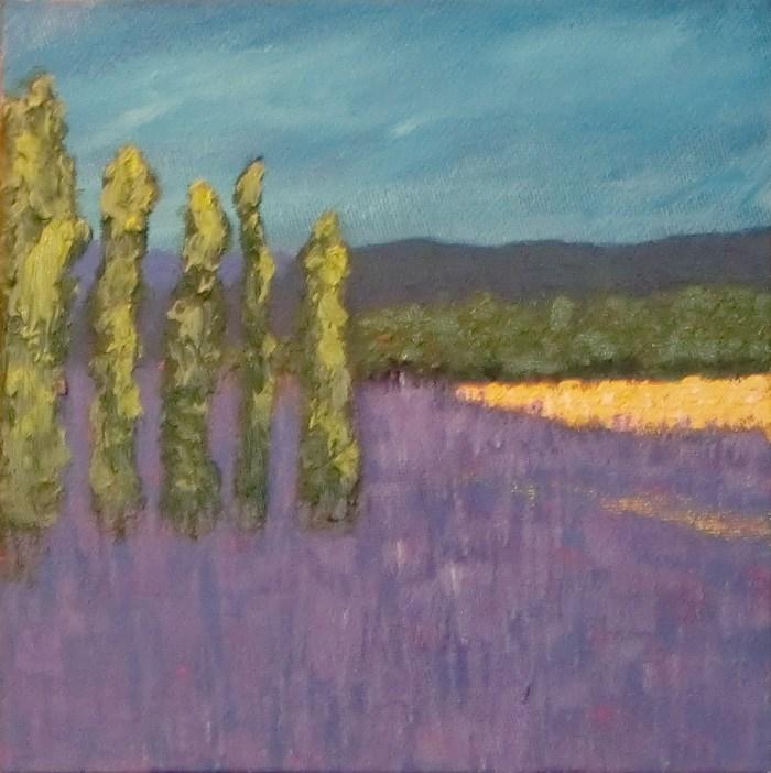"""Purple fields"" original fine art by karen richardson"