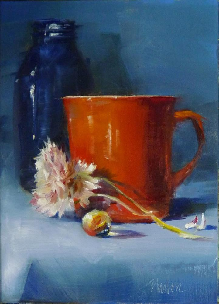 """Orange Cup"" original fine art by Barbara Benedetti Newton"