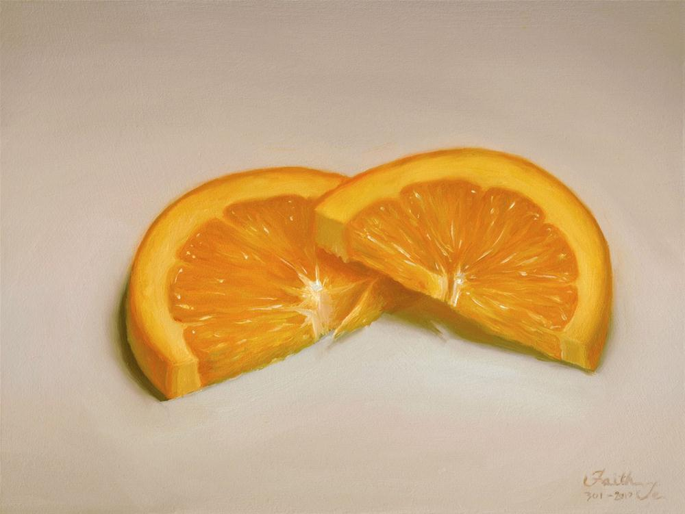 """Orange Slices"" original fine art by Faith Te"