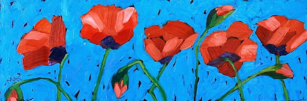"""Poppy Line"" original fine art by Mary Anne Cary"