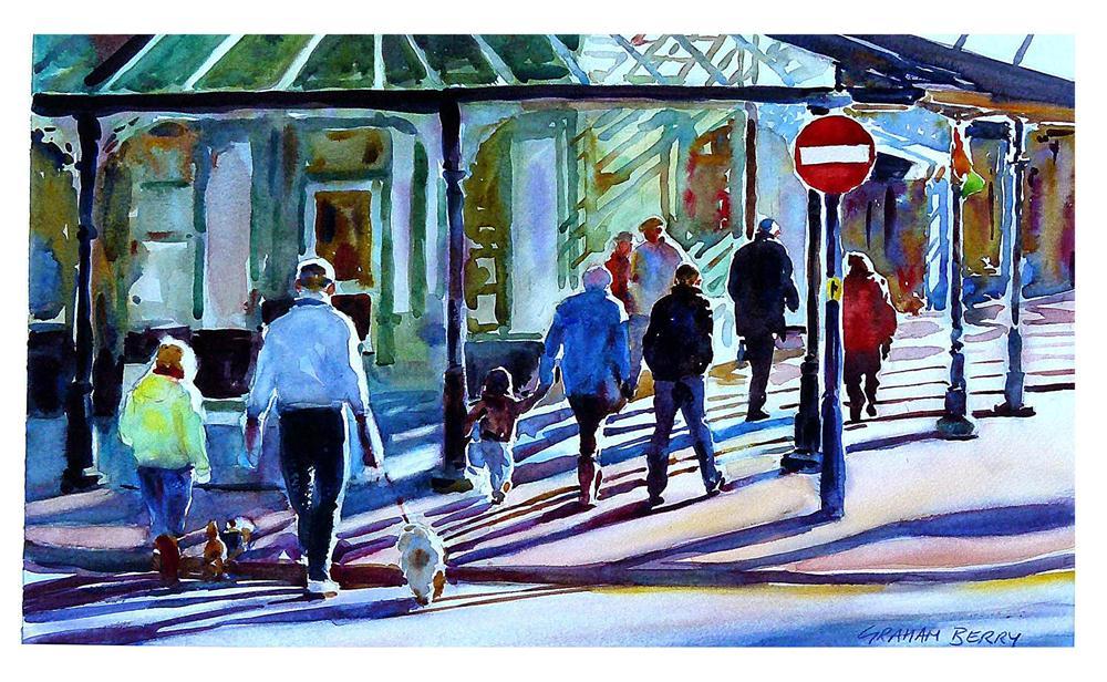 """Winter shoppers."" original fine art by Graham Berry"