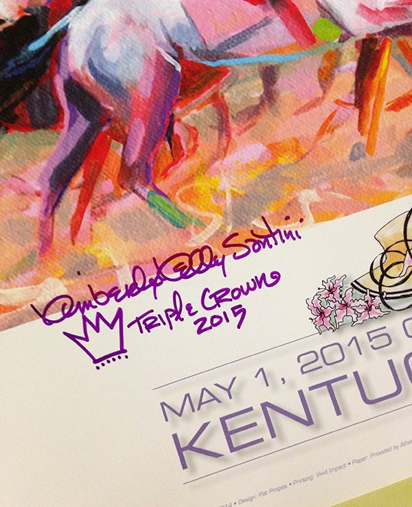 """""""I Have Kentucky Derby Posters!!"""" original fine art by Kimberly Santini"""