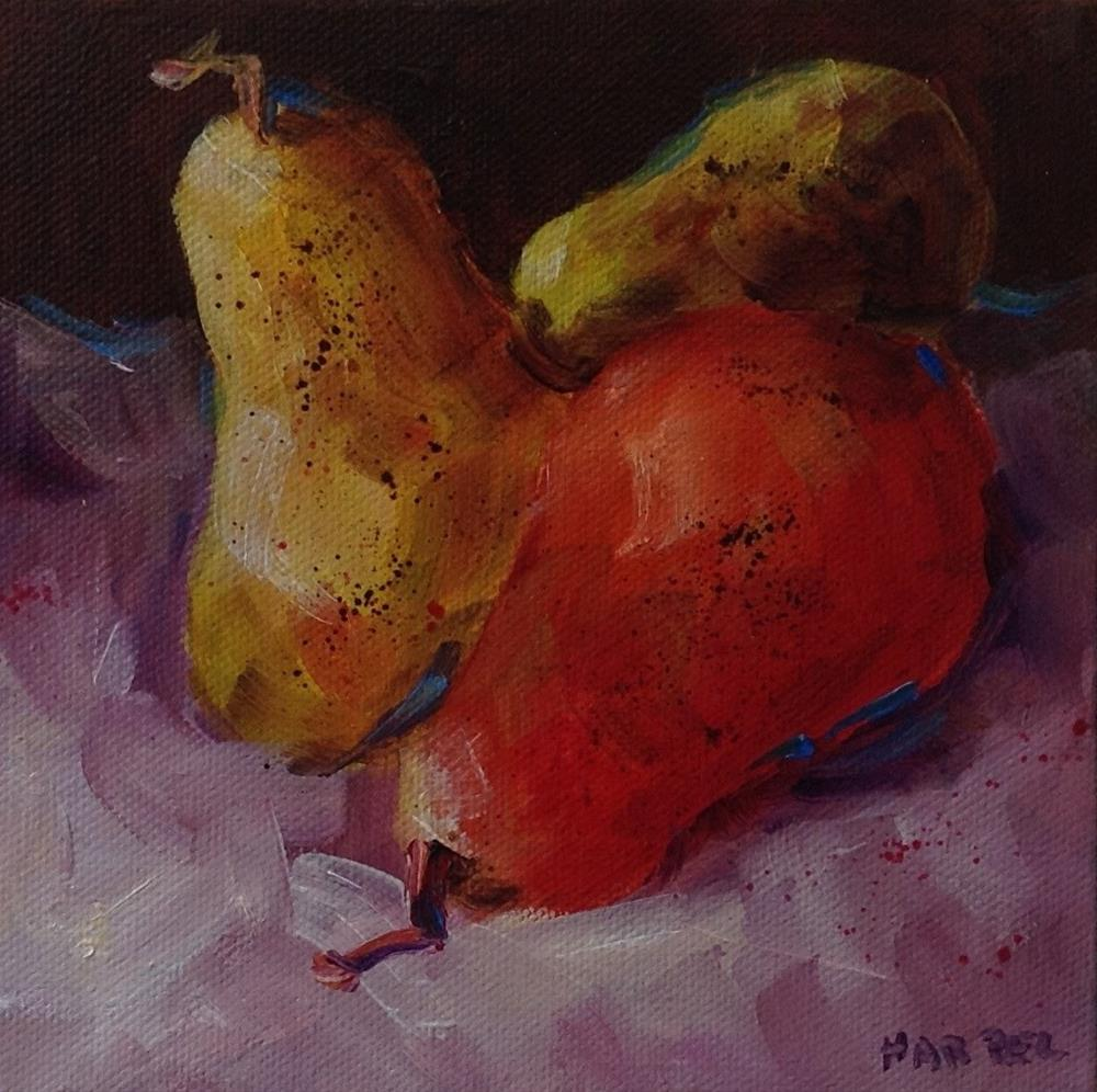 """Original Oil Pear still Life Art Painting Kitchen Food Home Decor"" original fine art by Alice Harpel"