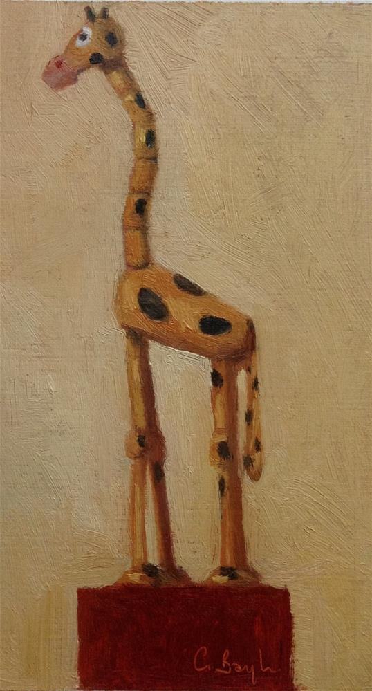 """Wooden toy#4"" original fine art by Christine Bayle"